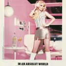 IN AN ABSOLUT WORLD Vodka Magazine Ad ZOOEY DESCHANEL & ELLEN VON UNWERTH