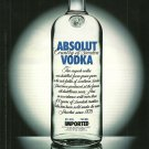 ABSOLUT 23,5 CM Italian Vodka Magazine Ad NOT COMMON!
