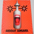 ABSOLUT ADIGARD Vodka Magazine Ad w/ Artwork by Eric Adigard NOT COMMON!