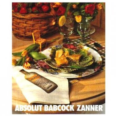 ABSOLUT BABCOCK ZANNER Canadian Vodka Magazine Ad RARE!