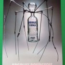 ABSOLUT BOURGEOIS Spanish Vodka Magazine Ad w/ Artwork by Louise Bourgeois