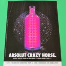 ABSOLUT CRAZY HORSE French Vodka Magazine Ad HARD TO FIND!