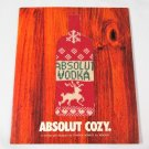 ABSOLUT COZY Spectacular Vodka Magazine Ad w/ Bottle Cozy by Cynthia Rowley NEW!