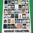 ABSOLUT COLLECTION Vodka Magazine Ad RARE!