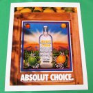 ABSOLUT CHOICE Vodka Magazine Ad RARE!
