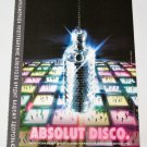 ABSOLUT DISCO Russian Vodka Magazine Ad w/ Cyrillic Text RARE!