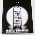 ABSOLUT DEPANNEUR French Vodka Magazine Ad HARD TO FIND!