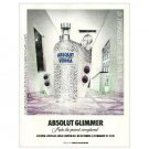 ABSOLUT GLIMMER Spanish Vodka Magazine Ad NOT TOO COMMON!