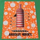 ABSOLUT HERSEY Vodka Magazine Ad Version 1 w/ Artwork by John Hersey