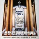 ABSOLUT LILI LA TIGRESSE French Vodka Magazine Ad RARE!