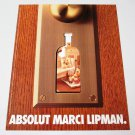 ABSOLUT MARCI LIPMAN Vodka Magazine Ad by Canadian Interior Designer RARE!