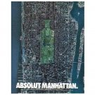 ABSOLUT MANHATTAN Vodka Magazine Ad