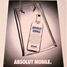 ABSOLUT MOBILE Dutch Vodka Magazine Ad NOT TOO COMMON!