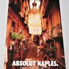ABSOLUT NAPLES Australian Vodka Magazine Ad