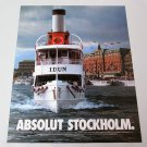 ABSOLUT STOCKHOLM Vodka Magazine Ad NOT VERY COMMON!