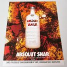 ABSOLUT SNAP French Vodka Magazine Ad RARE!