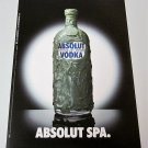 ABSOLUT SPA Spanish Vodka Magazine Ad HARD TO FIND!
