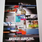 ABSOLUT SAMPLING European Vodka Magazine Ad NOT COMMON!