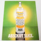 ABSOLUT SLICE Vodka Magazine Ad