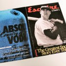 4 Different ABSOLUT HERITAGE Vodka Ads in Esquire Booklet TED WILLIAMS