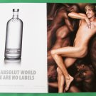 IN AN ABSOLUT WORLD THERE ARE NO LABELS British Vodka Magazine Ad w/ BRÜNO