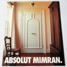 ABSOLUT MIMRAN Canadian Vodka Magazine Ad by Designer Joe Mimran