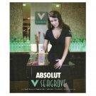 ABSOLUT V SEAGROVE Vodka Magazine Ad RARE!