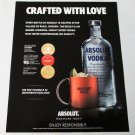 CRAFTED WITH LOVE Absolut Vodka Magazine Ad