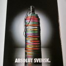 ABSOLUT SVENSK Vodka Magazine Ad Celebrating 85 Years of Swedish Film Industry