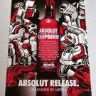 ABSOLUT RELEASE UNLEASHED BY MERDA Australian Vodka Magazine Ad RARE