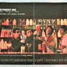 ABSOLUT PERFECT MIX (by Gildas Masaya & Andre) French Vodka Magazine Ad 2pp RARE