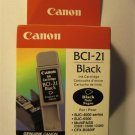 CANNON INK CARTRIDGE BCI-21 BLACK Date Code C18K24