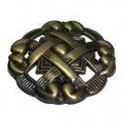 Antique Brass Knot Knobs-Decorative Hardware. (New)