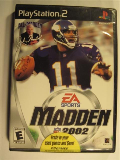 Madden NFL 2002 Sony PlayStation 2 A