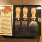 TRADITIONAL FRENCH STYLE SET OF 3 CHEESE KNIVES (New)
