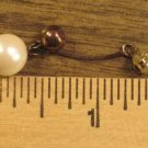 1 (One) Vintage Dangle Style Pearl Earring