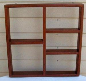 Shadow Box - Vintage Hard Wood Display Case
