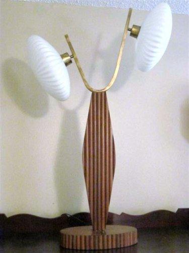 Rattan Bamboo Table Lamp 041513