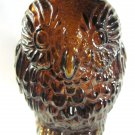 Owl Glass Coin Bank Vintage  - 050813