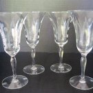 Champagne Flûte or Wine Glass - Hand Blown Crystal - Wheat Design - 052413