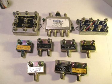 Cable Splitters - Lot of 10 - Mixed 070813