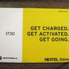 NEXTEL i730 Cell Phone Welcome Guide #1 072013