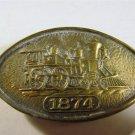 Western Style Brass Belt Buckle #6 072413 Vintage