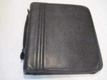 3 Ring Black Leather Binder #1