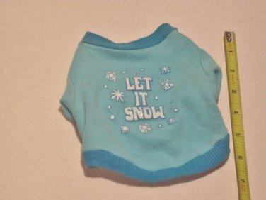 Pet Garment T Shirt Let It Snow 123113