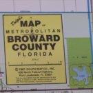 Broward County Florida Wall Map 021715