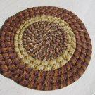 "Crocheted Round Rug 15"" Vintage 112515"