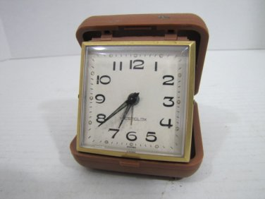 Travel Alarm Clock #041616 Vintage