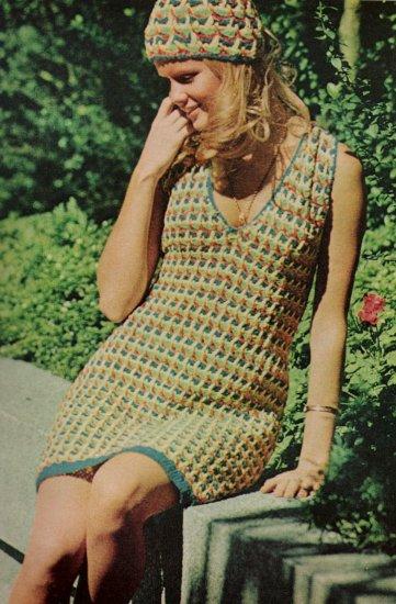 Vintage V-Necked Slide of a Dress Crochet Pattern