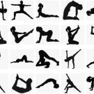 40 Yoga Positions Silhouettes Machine Embroidery Design